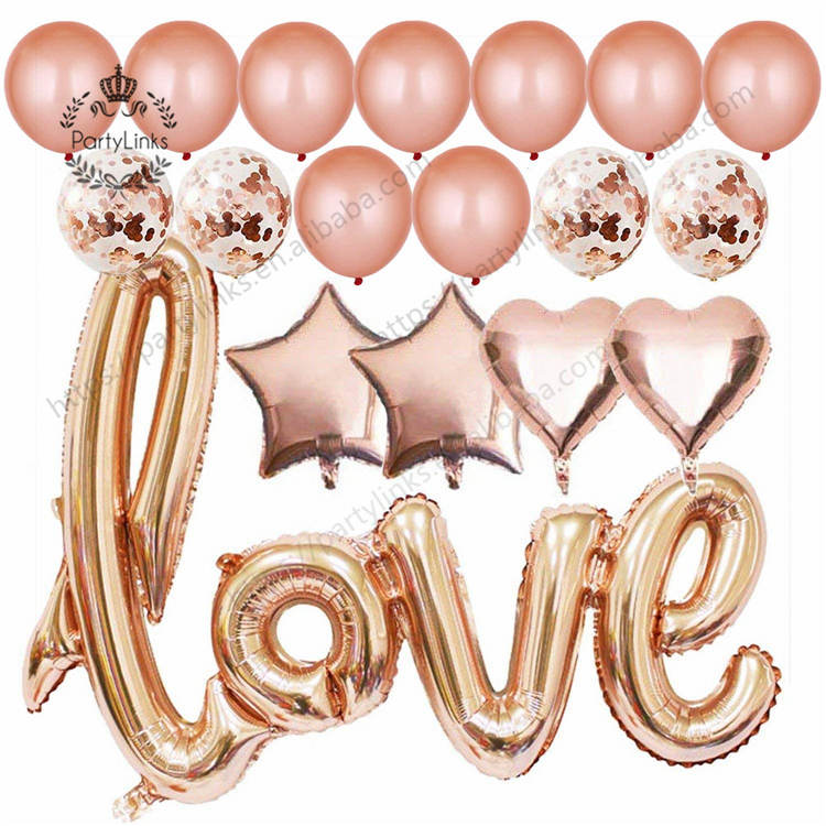 40 Inch Rose Gold Love Balloons Kit <strong>Valentines</strong> <strong>Day</strong> Decorations and <strong>Gift</strong> <strong>for</strong> <strong>Him</strong> or Her Rose Gold Foil Heart Balloons Decorations