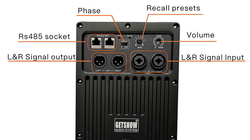2400W Subwoofer Amplifier Module Professional Speaker Plate Amplifier Class D with DSP Audio Processor