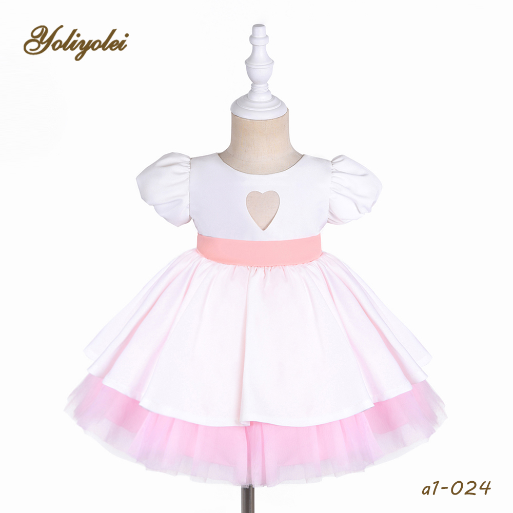 new model <strong>baby</strong> summer <strong>cotton</strong> gauze wedding party white <strong>frock</strong> for <strong>baby</strong> girl dress