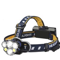Red Safety Light Best Head Lamp, Running Camping Waterproof Headlamps 7 Modes 45-Degree Pivotable Head LED Headlamp Flashlight