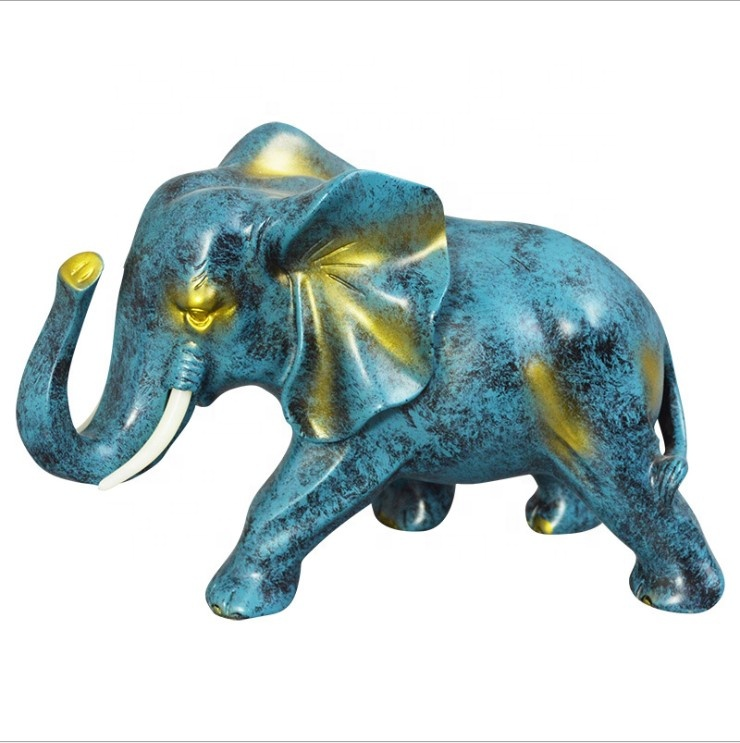 Personalizado favores do casamento presentes collectible figurine da resina elefante decorativo