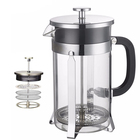 Borosilicate Glass coffee plunger, cheap Coffee Tea Maker & French Press for restaurant