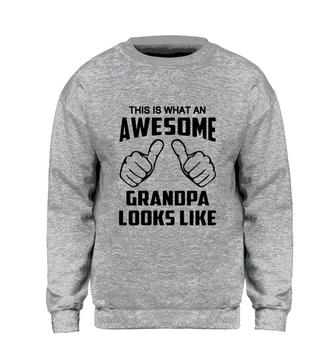 Yhao This Is What An Awesome Grandpa Looks Like Sweatshirt Men Funny Print Hoodie Sweatshirts Fleece Warm Streetwear Coat