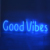 Pretty custom led good vibes HIPS neon sign for advertising and home decoration