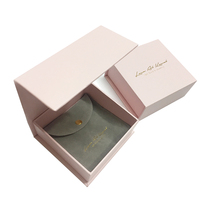 necklace custom magnetic ribbon paper cardboard jewelry box for ring
