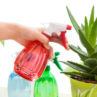 Garden plant plastic empty manual pressure refillable water trigger spray bottles