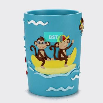Funny monkey design cartoon toothbrush cup for bathroom decor