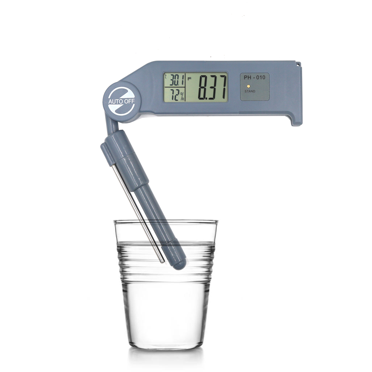 Folding PH-010 3 in 1 pH Meter High precision Portable Digital LED pH/temperature/humidity Water Quality Tester analyzer