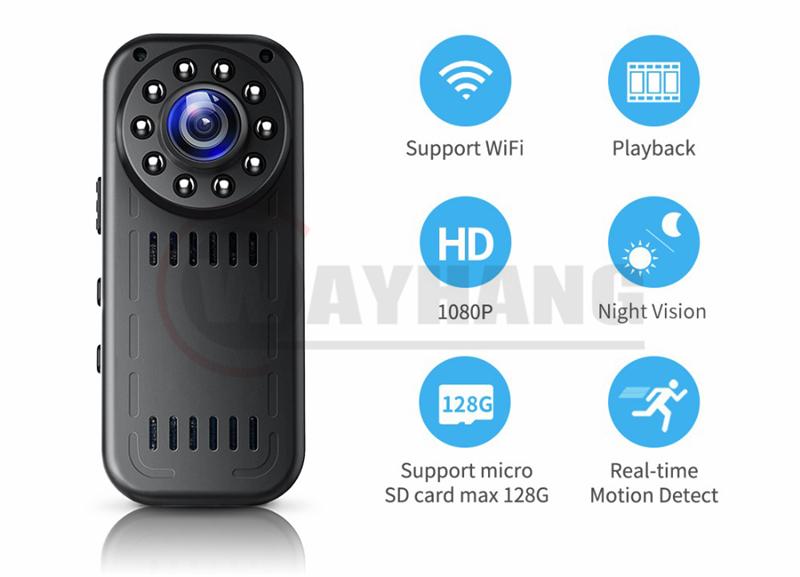 1080p wireless wifi night vision mini camera wifi cctv camera for home
