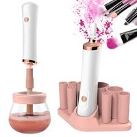 Rotation mode with 8 size rubber dryer electric makeup brush cleaner