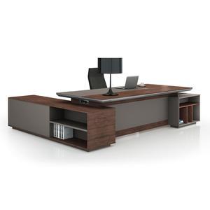 2019 Latest New L Shape Design Office Furniture BOSS CEO Teamleader Executive Modern Table Office Desk