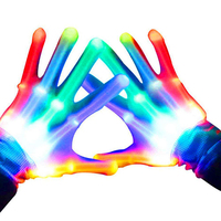2019 Halloween Party Supplies Halloween Accessories Glow In The Dark Flashing Light Up LED Skeleton Hand Gloves