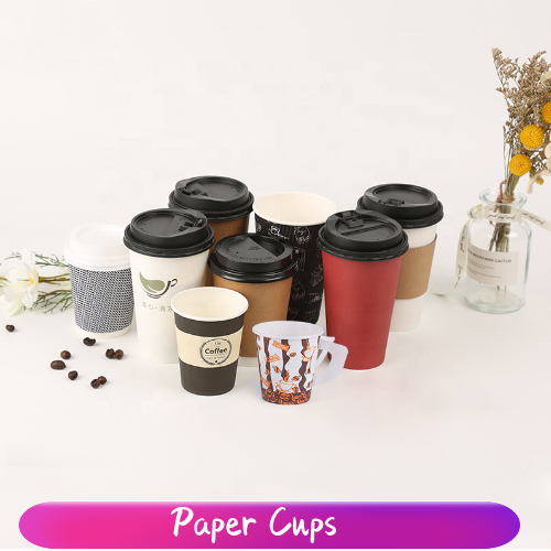 Custom Logo Printed Disposable Single Wall 12 oz  Paper Cup for Hot Coffee