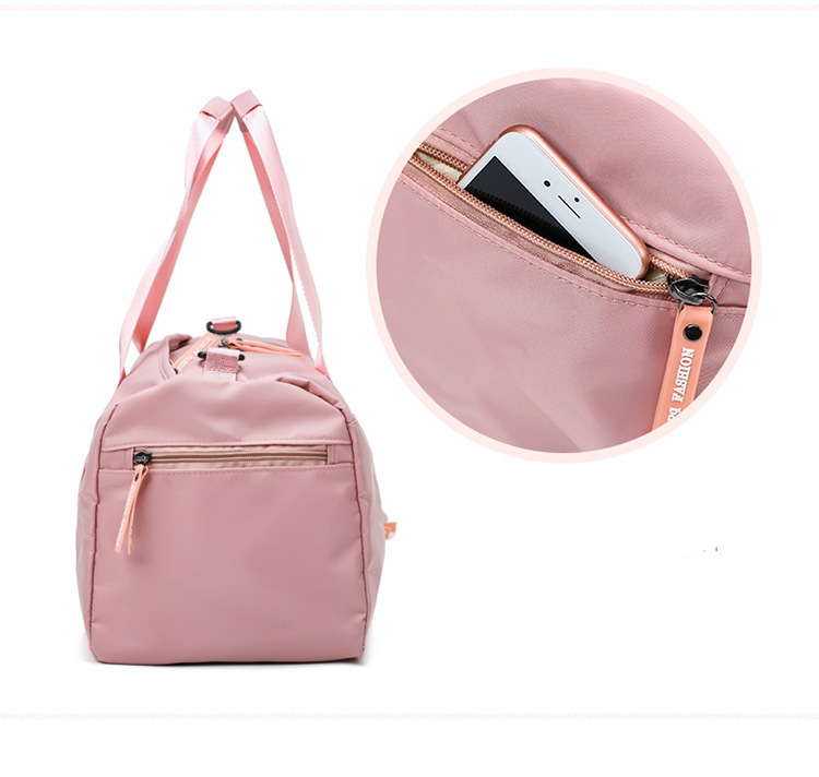 Large Capacity Sport Travel Bag Shoulder Bags Fashion Travel Pink Letter Tote Trip Duffel Bag