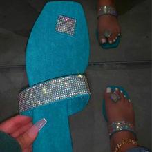 2020 прозрачные тапочки; Модные шлепанцы с кристаллами; Женские летние сандалии на платформе; Женская обувь на плоской подошве со стразами(Китай)