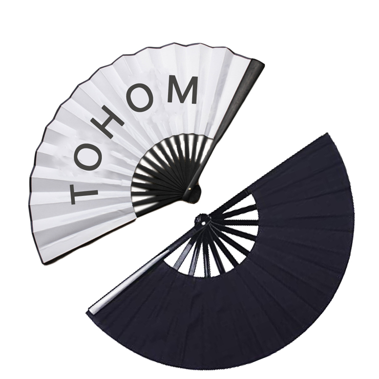 2019 factory price Promotional gift High Quality Hand Held Folding Paper Fan with <strong>Bamboo</strong>