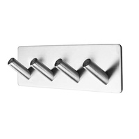 Heavy Duty Stainless Steel Coat Hook Rail for Coat Hat Towel Purse Robes