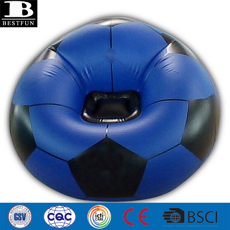 Air Bean Bag Gaming Inflatable Blow Up Chairs Camping Game Kids Beanbag Football White