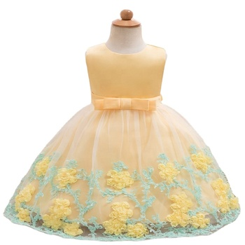 Pabasana korean princess flower girl frock design dress up game for girl with high quality