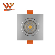 75Mm Uitsparing 85Ra 4000K 15 Graden 1500Lm 15W Warm Wit Zilver COB Dimbare LED Downlight