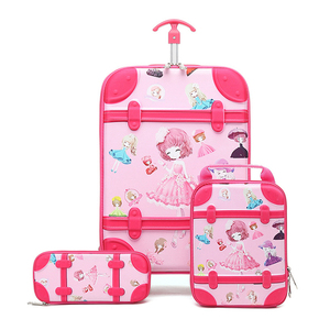 Durable Waterproof Kids Trolley School Bag Set For Girls
