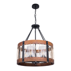 Natural Wood Veneer Lampshade Pendant Lamp Shade wood light shades