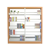 Professional library modular floor 5 levels adjustable steel bookshelf