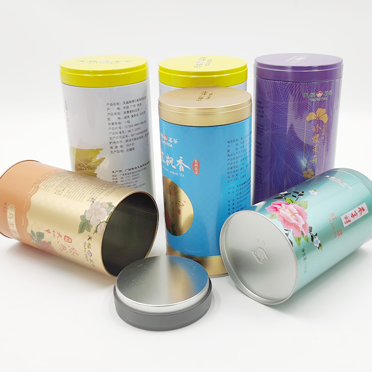 New style hot sale tea tin box food metal tea canister with airtight lid