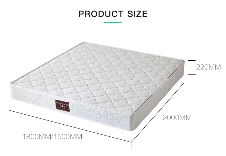 Wholesale Coconut Fiber Material Double Bed 22cm Thick Spring Mattress