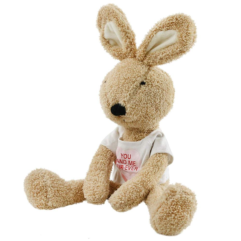 Talking Plush Cute Bunny in T-Shirt Stuffed <strong>Rabbit</strong> Repeat What You Say Speaking Plush <strong>Rabbit</strong> Toy Interactive Gift for Kids