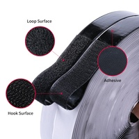 Nylon Good Quality sew on Heat Resistance fastener adhesive black hook and loop tape