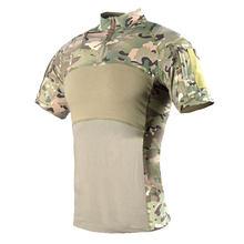Хлопковая тактическая футболка Быстросохнущий топ с короткими рукавами-MC (XXL)(Китай)