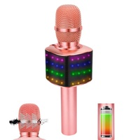 Popular Rechargeable Wireless Bluetooth Mic For Karaoke With Speaker And Microphone