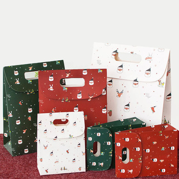 wholesale cute christmas festival new year birthday wedding bridesmaid friends cute treat custom paper gift bag with logo print