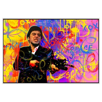 Shenzhen High Quality Home Decoration Handmade Modern Canvas Pop Art Scarface Oil Painting