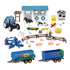 Plastic Toy Plastic Animal Plastic Toy Big Harvest Farm Newholland Plastic Farm Toy Tractors With Animal Figurines PVC Simulation Farmer Figures For KidsHen Sheep