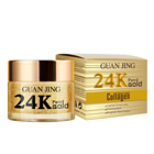 Face Bright Day Night Cream 24k Gold Collagen Face Cream For Anti Aging Skin Lightening