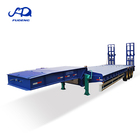 heavy capacity lowboy load 70tons low bed semi trailer price