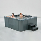 1 lounger 4 seats balboa hydro massage outdoor whirlpool hot tub spa