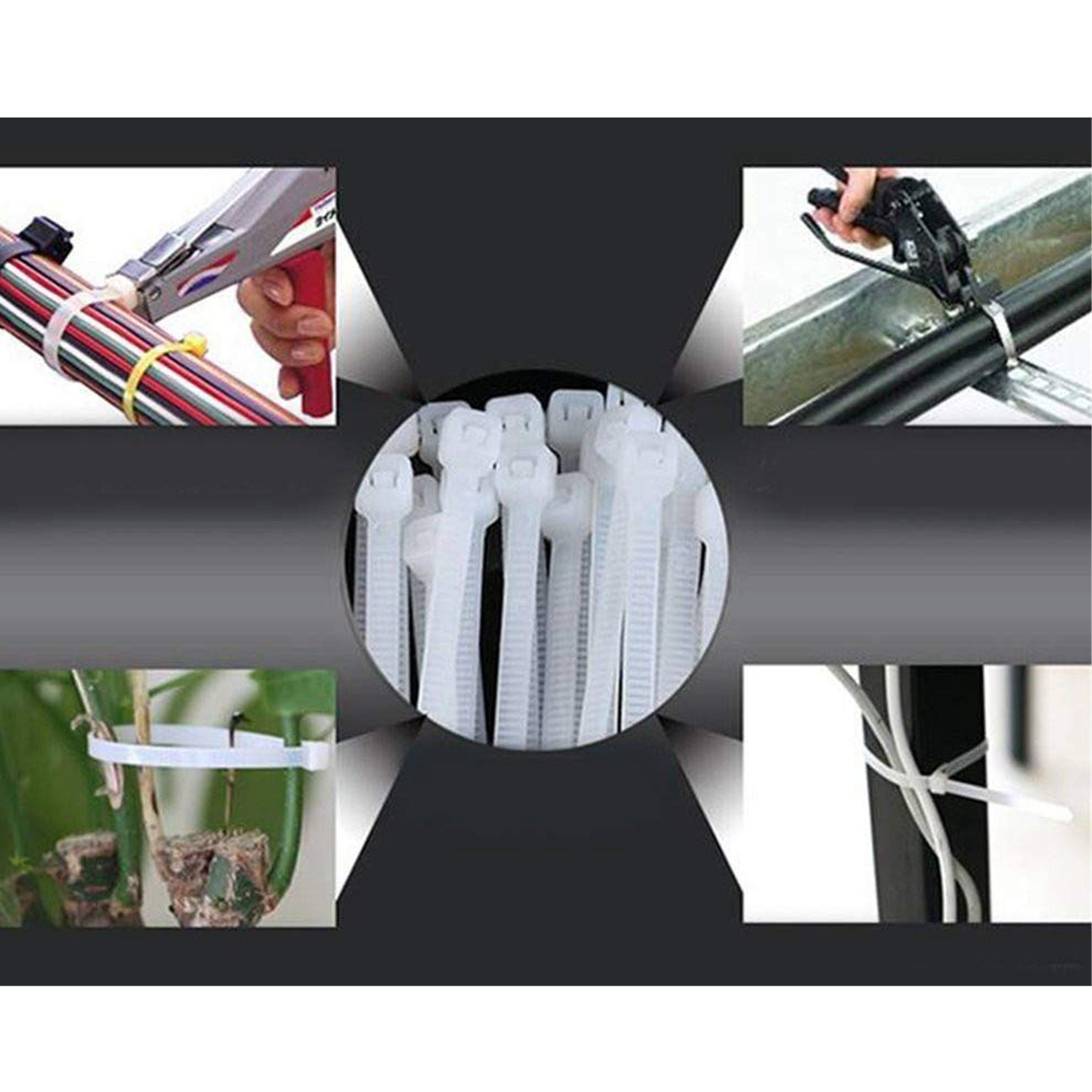 Hampool Good Quality White 2.3*60MM Customized Durable Self-locking Nylon Cable Tie