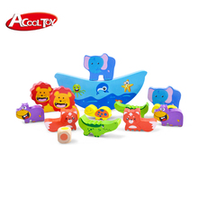 Lustige tiere stil 3d kombination pädagogisches baby balancing spiel <span class=keywords><strong>holz</strong></span> <span class=keywords><strong>spielzeug</strong></span>