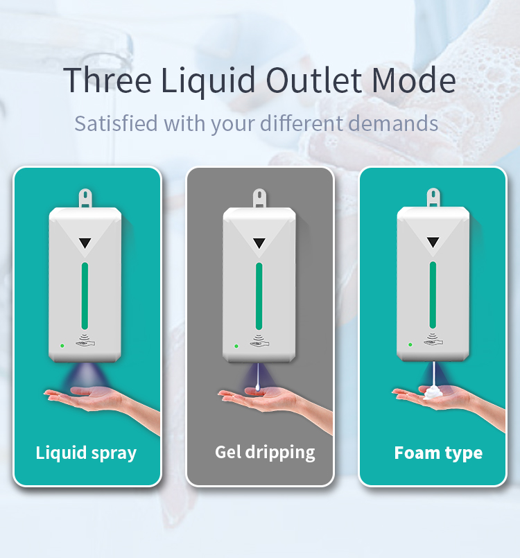 Electronic alcohol dispensers for liquid soap stand touchless automatic soap dispenser