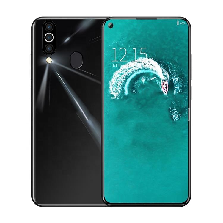 2020 최신 디자인 6.35 인치 천공 스크린 3G 스마트 폰 안드로이드 Celulares 2.5D 커버 얼굴 ID 지문