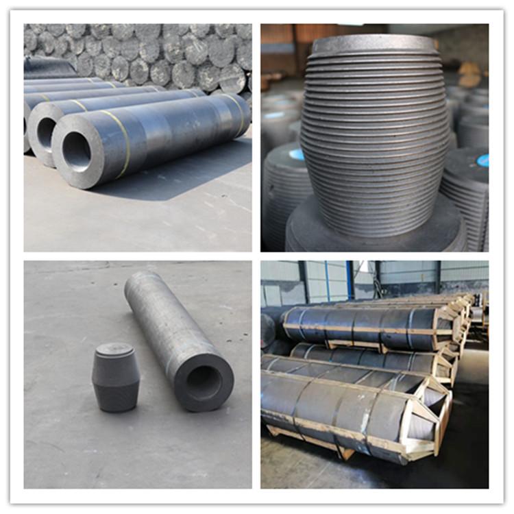 格安価格良質ハイパワー黒鉛電極 HP 250 3TPI 乳首アーク炉鉄鋼プラントで使用
