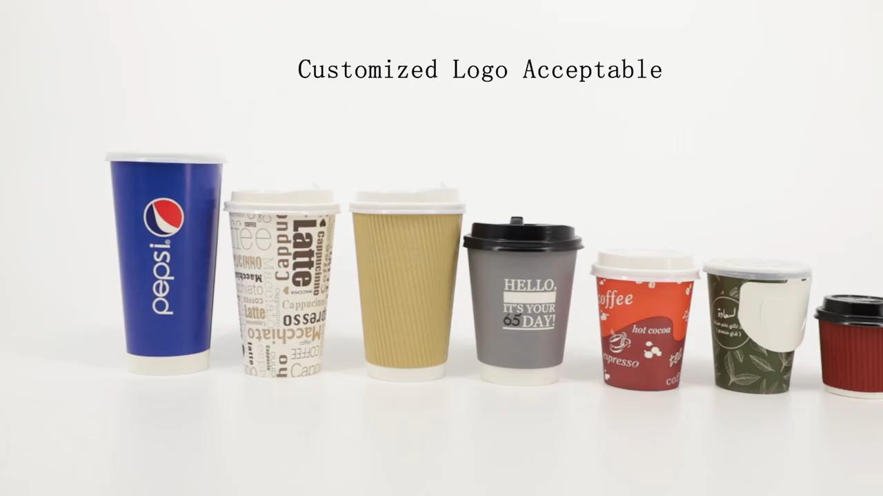 Tasse en papier jetable de bonne qualité, pièces, à paroi unique, vente en gros, gobelets de café