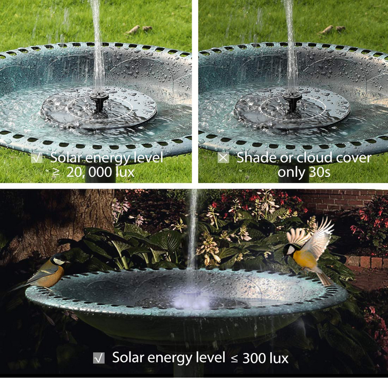 Solar Powered Schwimm Brunnen Pumpe für Pool Teich Vogel Bad