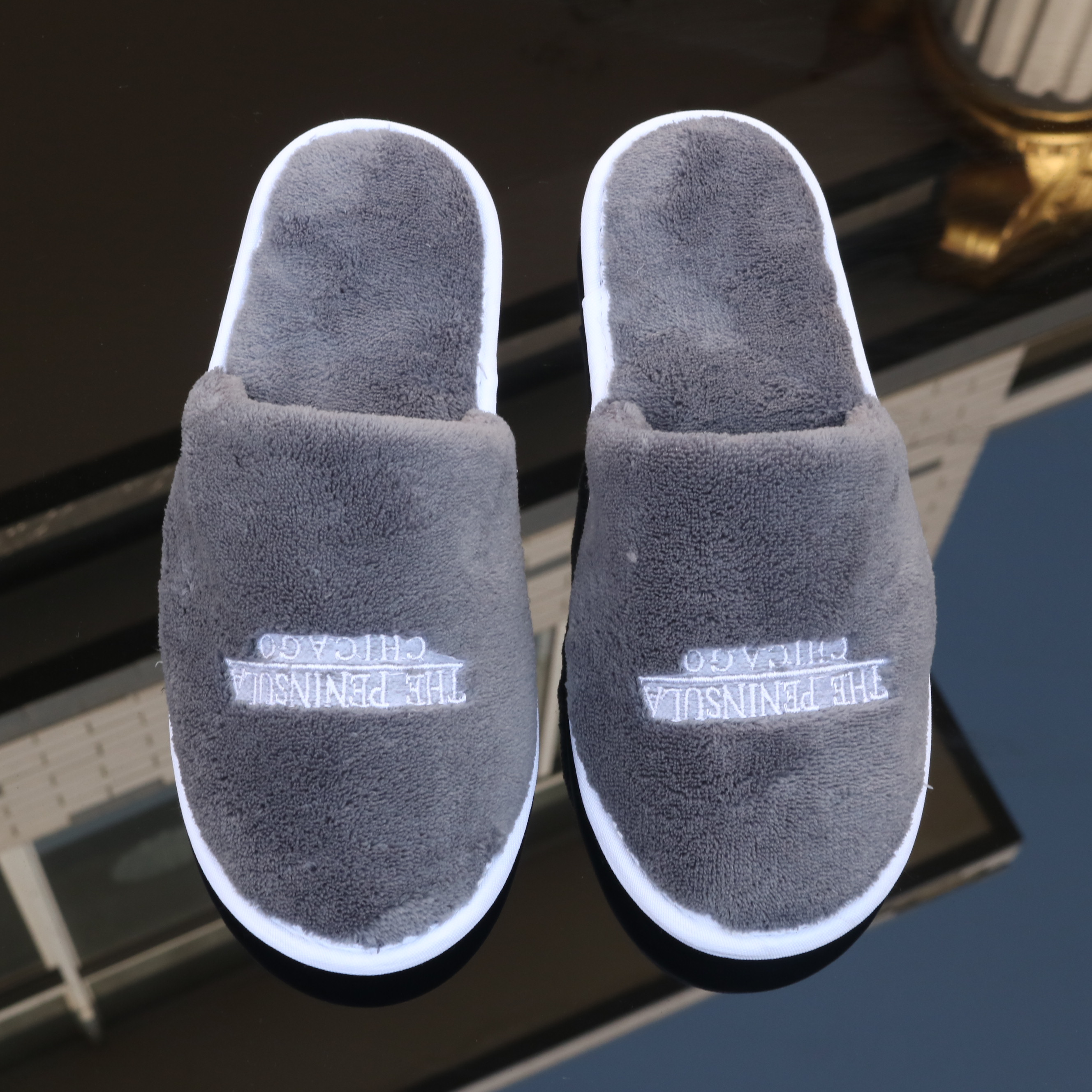 TPR sole cotton coral fleece hotel slippers washable hotel slippers