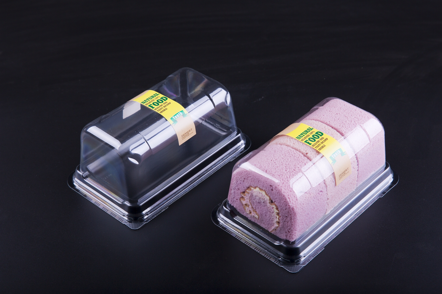 Customized degradable PET cake box food packaging containers plastic takeaway