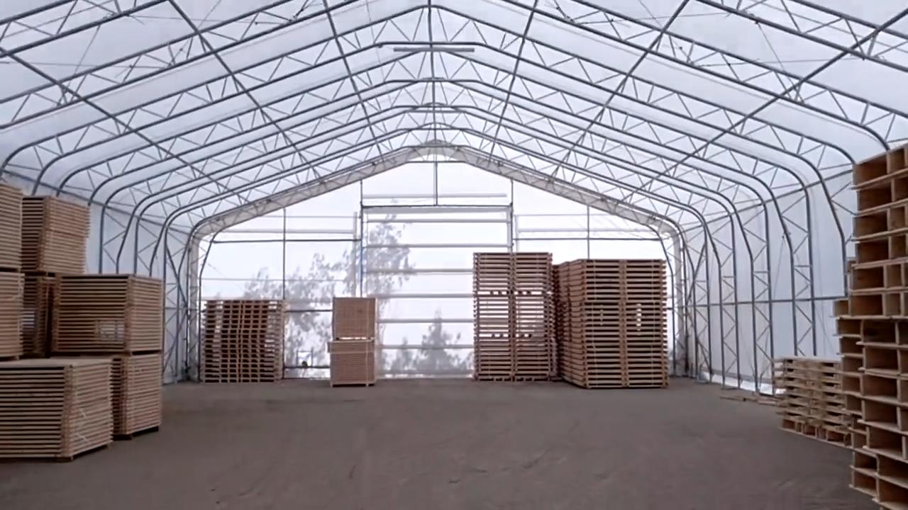 Kho lưu trữ xây dựng PVC lều, Tuyết gió bằng chứng