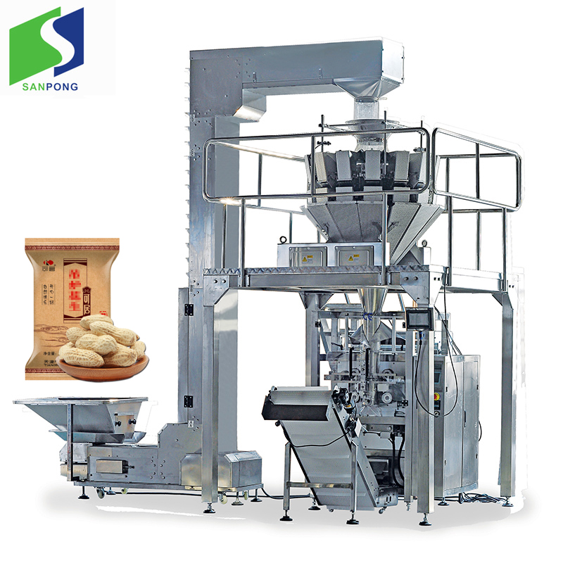 Automatic 2kg grains packing machine with 14 Head multihead auto Weigher Snack packing
